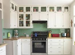 kitchen green tile kitchen backsplash white cabinets with