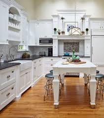 Classic Cottage Vaughan Lighting For A Beach Style Kitchen With A Kitchen Table