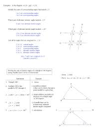geometry parallel lines and transversals worksheet with maths