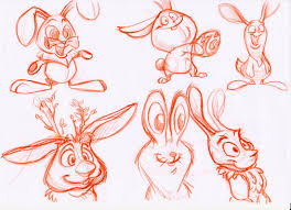 easter bunny sketches