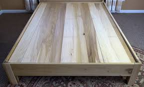 Mattress For Platform Bed Cascade Panel Wood Bed Dovetail Drawers Glide Under Amish