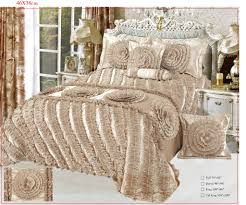 Luxury Comforter Sets California King Tache 6 Pc Solid Harvest Moonlit Field In Cream Fancy Floral