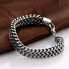 silver plated snake chain bracelet images Mens snake chain bracelet the best of 2018 jpg