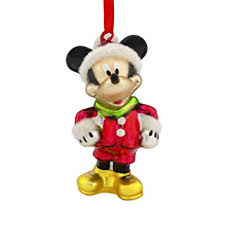 hallmark disney mickey mouse santa blown glass