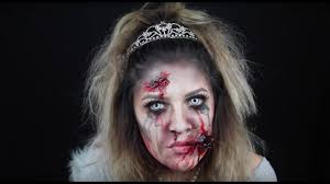 zombie princess halloween makeup tutorial youtube
