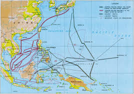 Pearl Harbor Map World War Ii Japanese Shipping Lanes Maps Pinterest