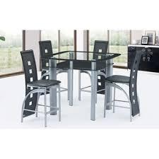 Glass Table And Chairs For Kitchen by Glass Dining Room Sets Shop The Best Deals For Oct 2017