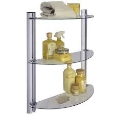 Bathroom Shelving And Storage Splash 3 Tier Glass Bathroom Wall Storage Shelves Co Uk