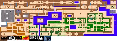 legend of zelda map with cheats this demake of legend of zelda reminds me of adventure the