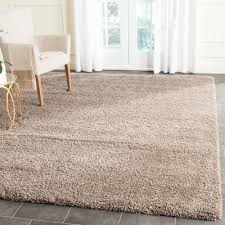 7 x 7 area rugs safavieh santa monica shag taupe 6 ft 7 in x 9 ft 6 in area