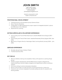 Resumes For Teachers Examples by Speeches And Technical Reports Essays Film And Television