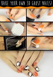Ghost Pictures Halloween Use Kids U0027 Craft Supplies To Create These 3 D Ghost Nails For