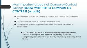 comparison and contrast essay sample pdf compare and contrast essay writing ppt video online download most important aspects of compare contrast writing know whether to compare or contrast