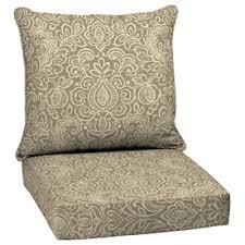 Garden Treasures Patio Furniture Replacement Cushions Garden Treasures Neutral Stencil Glenlee Damask Cushion For