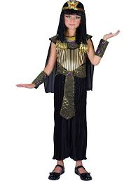 Girls Goddess Halloween Costume Child Queen Cleopatra Fancy Dress Egyptian Princess Black Costume