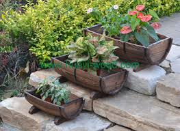 Half Barrel Planters by Raised Garden Barrel Planters Antique Style