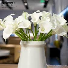 Calla Lily Flower Discount Pu Artificial Calla Lily Bridal Wedding Bouquets Latex