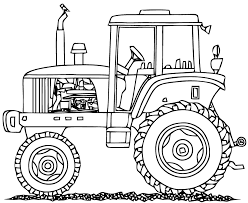 coloriage tracteur à imprimer