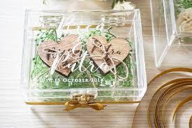 wedding gift surabaya acrylic wedding ring box by gift box bridestory