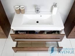 Wash Basin Vanity Unit Wall Hung Resin Basin Vanity Unit 2 Drawer Antique Wood Giuseppine