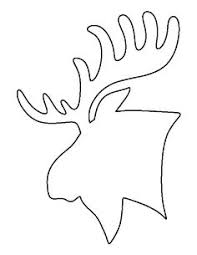 moose template moose pattern use the printable outline for crafts creating