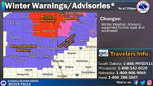 South Dakota travel warnings images Sioux falls weather no travel advised for the area jpg
