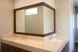 Framing Bathroom Mirrors Diy - cherry wood framed bathroom mirrors home