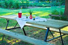 Plans To Build A Hexagon Picnic Table by How To Build An Extra Large Diy Picnic Table Curbly