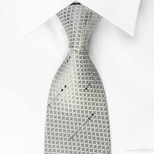 cardin silk rhinestone tie geometric trellis on silver with silver