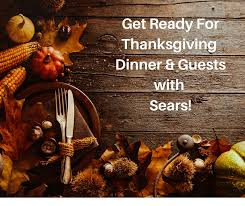 get ready for thanksgiving dinner and guests with sears