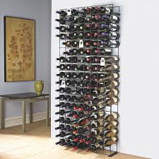 Ideas For Wall Mounted Tie Rack Design Decorating Wondrous Large 144 Bottle Black Tie Grid Metal Wine
