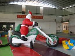 outdoor christmas decorations giant inflatable santa claus