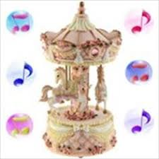 new arrival romantic christmas gift shining merry go round musical
