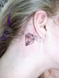 diamond tattoo behind ear pictures to pin on pinterest tattooskid