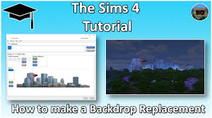 How To Make A Backdrop The Sims 4 Tutorial How To Make A Backdrop Replacement Youtube