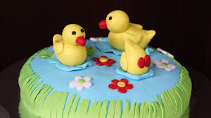 duck cake ducks in pond cake beautiful cake ideas
