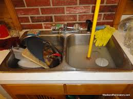 grease clogged kitchen sink exquisite how snake kitchen sink to unclog a youtube grease