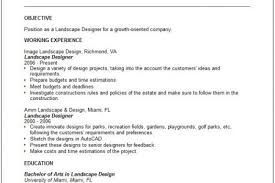 Landscape Resume Samples by Objective Resume Examples Gardening And Landscaping Resume Design