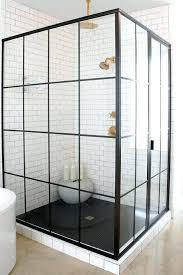 White Shower Door Industrial Shower Door Glassnyc Co