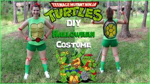 diy teenage mutant ninja turtles halloween costume youtube