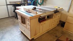 table saw station plans table saw station pinteres