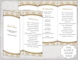 rustic wedding program templates rustic wedding program template burlap lace diy