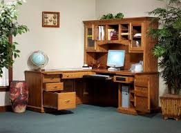 Computer Hutch Desk With Doors Oak Tree Furniture Amish Furniture Quality Amish Made