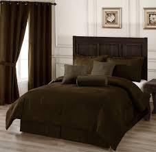 7pc chocolate brown microsuede comforter set king size crocodile