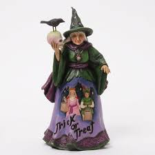 jim shore trick or treat witch figurine jim shore