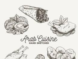 sketches arabic food collection free vectors ui download
