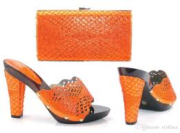 wedding shoes and bags 17041704 new orange sandals matching shoes and bags for