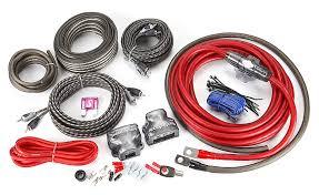 rockford fosgate rfk4d 4 gauge dual amplifier complete wiring kit