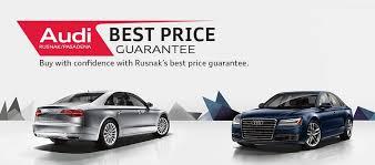 rusnak pasadena audi best price guarantee on a audi