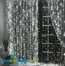 led light curtain 144 led lights 12 strands 6 ft